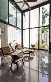 this two story glass wall has impact freshome com