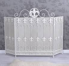 spark protection white antique style fireplace screen fireplace
