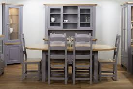 Excellent Grey Painted Dining Room Furniture  In Glass Dining - Grey dining room furniture