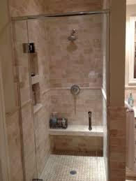 pattern chiseled edge travertine shower my shower