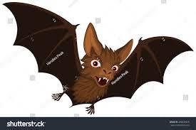 vector illustration flying cartoon vampire bat stock vector