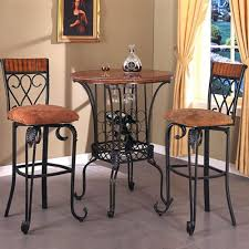 bar stool table and chairs three piece round pub table and upholstered seat bar stool set