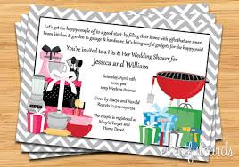 gift card bridal shower his and hers wedding shower invitation