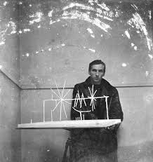 photograph of william turnbull with his work u0027mobile stabile