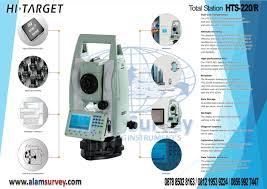 total station hi target hts 220 r spec alam survey jl joglo raya