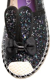 purple glitter car girls glitter shoes 3d bunny ears slip on pumps casual summer