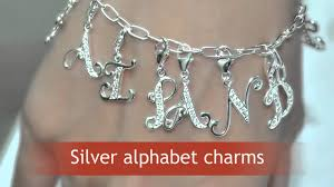 silver alphabet charms for bracelet wholesale letter charms