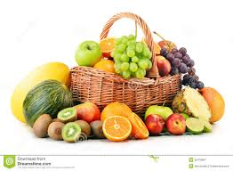 basket of fruits variety of fruits in wicker basket on white stock image image of