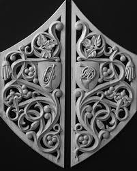 architectural wood carving ornament
