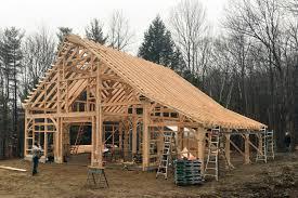 raising a post u0026 beam kit in new hampshire the barn yard u0026 great