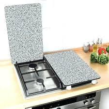 plaque granit cuisine anti projection plaque de cuisson 2 couvre plaques granit wenko