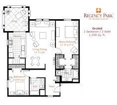 senior living floor plans regency park