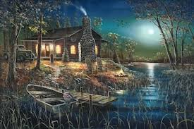 lighted canvas art with timer lighted canvas art after dark by jim hansel the cabin shack