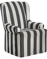 Charcoal Slipcover Wing Chair Gray Slipcovers Bhg Com Shop