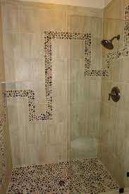 River Rock Bathroom Ideas Shower Using 13