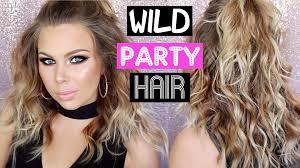 medium length hairstyle tutorials wild party hair tutorial for medium length hair youtube