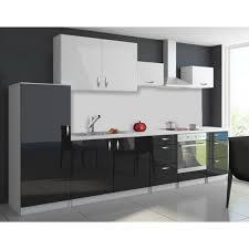 cuisine noir laqué pas cher cuisine complète 3m20 oxin laquée brillant noir et blanc