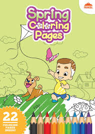 file spring coloring pages printable coloring book for kids pdf