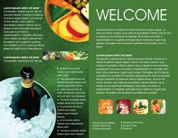 welcome brochure template banquet brochure template design and layout now 00725