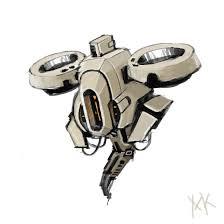 sci fi drone obj 3d model 3d modeling pinterest sci fi