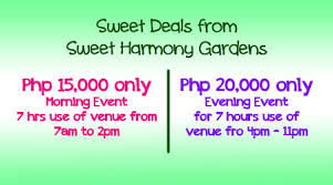 wedding deals philippine wedding trends sweet deals from sweet harmony gardens