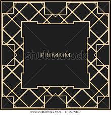 Art Deco Design Elements Vector Geometric Frame Art Deco Style Stock Vector 480611557