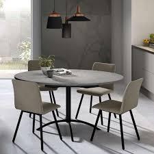 table de cuisine ronde en stratifié extensible laser 4 pieds