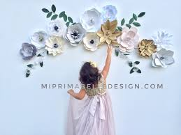 floral decor giant white paper flowers wedding floral backdrop flower wall room