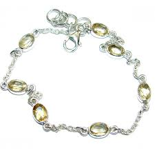 jewelry silver handmade bracelet images Stunning genuine citrine 925 sterling silver handmade bracelet jpg&a