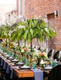 Potted Plants Wedding Centerpieces by Reception Ferns As Inexpensive Centerpieces Every Other Table
