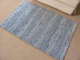 repurposed denim rug super soft denim chenille throw rug 24