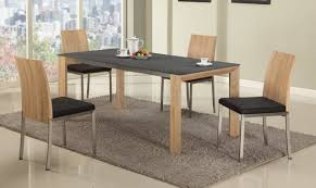 alison dining table in light oak u0026 black by chintaly w options