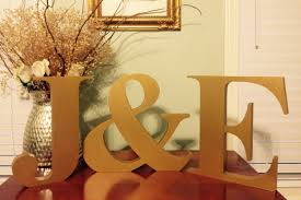 standing letters gold letters monogram initials free