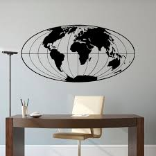 World Map Wall Sticker by World Map Wall Decal World Map Decal Planet Earth