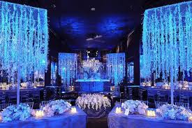 amazing blue wedding decorations sang maestro