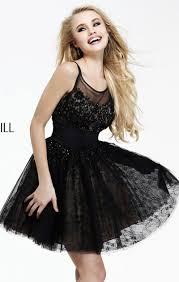 2014 beaded black a line bodice short lace prom dress sherri