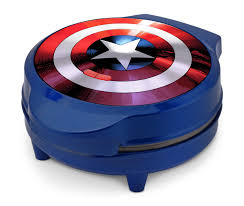 marvel mva 278 captain america shield waffle maker blue witty