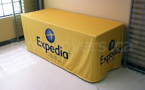 Custom Fitted Table Covers by Custom Printed Dye