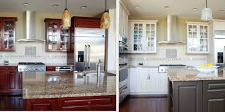 gray stained kitchen cabinets before and after resurface kitchen cabinets before after n hance wood