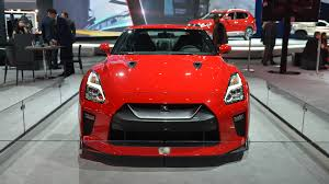 nissan gtr matte black and red nissan gt r track edition appears behind barriers in new york