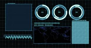 mobile app development blue neon concept technology drawing