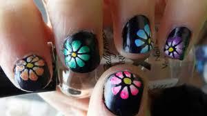 flower for spring nail art tutorial short nails youtube
