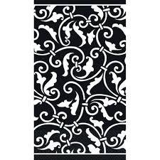 ornamental scroll black guest towels bartz s stores