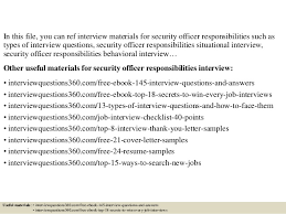 Security Officer Responsibilities Resume Top 10 Security Officer Responsibilities Interview Questions And Answ U2026