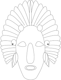 red indian printable coloring page for kids
