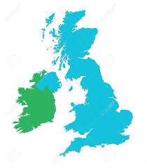Blank Map Of Ireland by Outline Map Of Uk And Ireland Over White Background Stock Photo