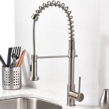 kohler brushed nickel kitchen faucet brushed nickel faucet kitchen kohler forte single handle pull out