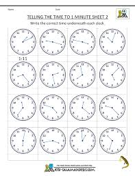 clock worksheets online free time worksheets telling the time to 1 min 2 telling time