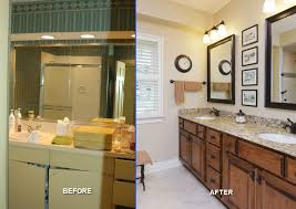 Small Bathroom Renovation Before And After Appealing Bathroom Remodels Before After Showing Marble Countertop