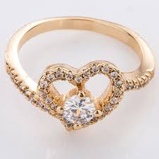 beautiful golden rings images Luxury heart shaped gold ring design for female jewellry 39 s website jpg